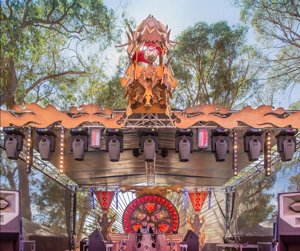 Stage Design - Rainbow Serpent Festival - Lexton, AU