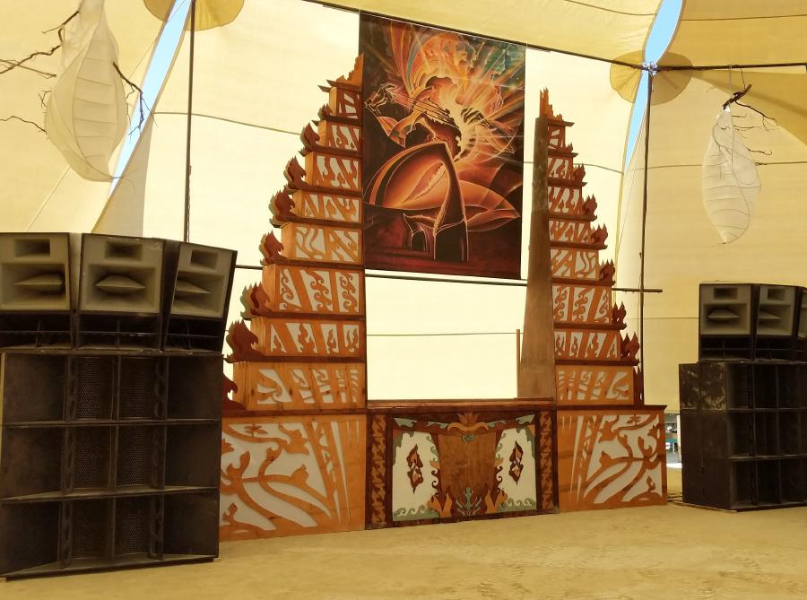Stage Design - Foamogenesis - Burning Man, NV